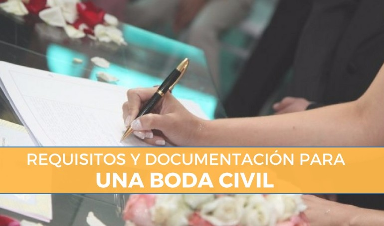 Requisitos para casarse por lo civil