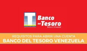 requisitos cuenta banco tesoro venezuela