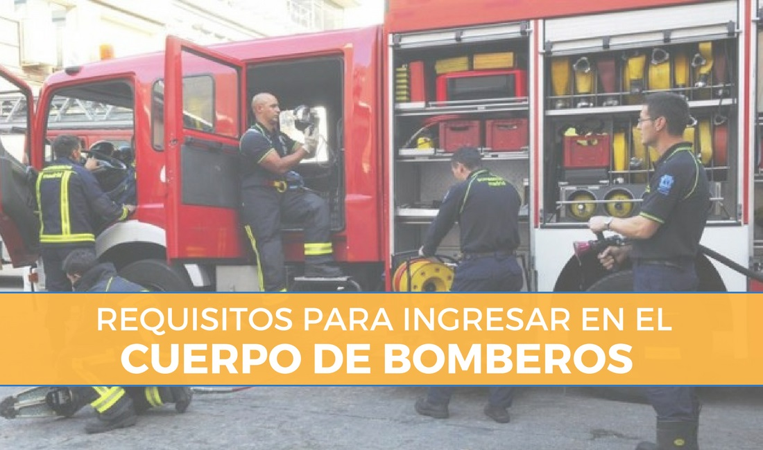 Requisitos para ser bombero en 2018