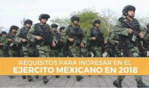 Ingresar en el Ejercito Mexicano