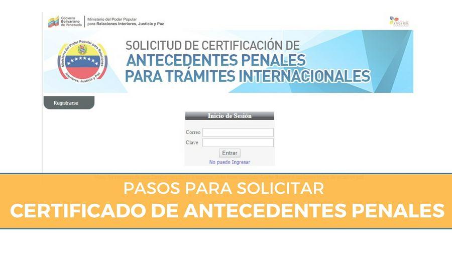 antecedentes penales Venezuela