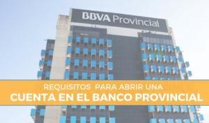 banco provincial apertura de cuenta