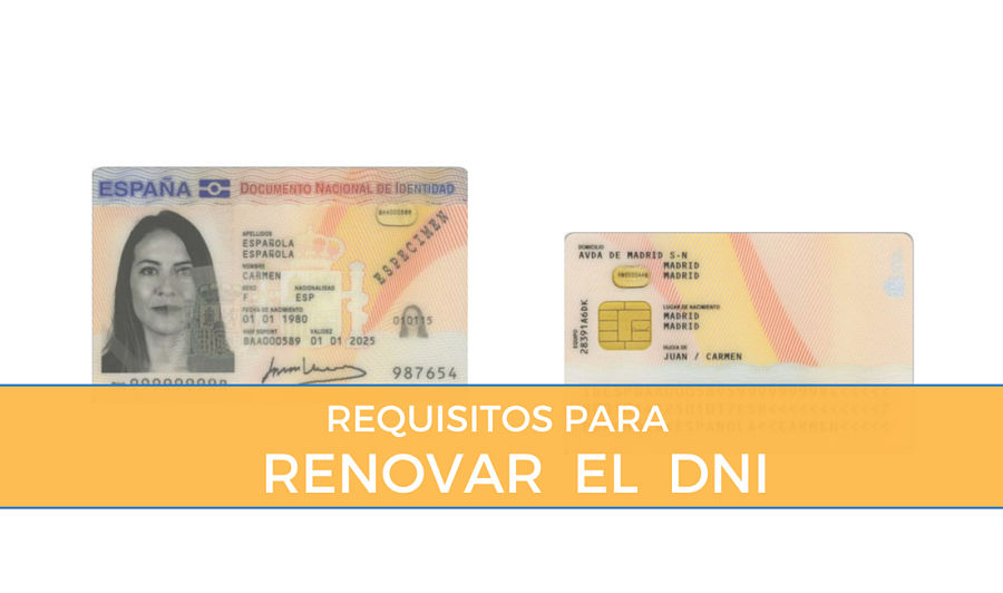 Requisitos para renovar el DNI