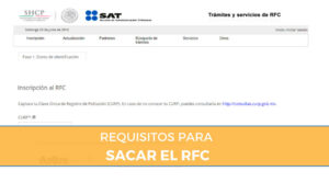 requisitos para sacar el rfc