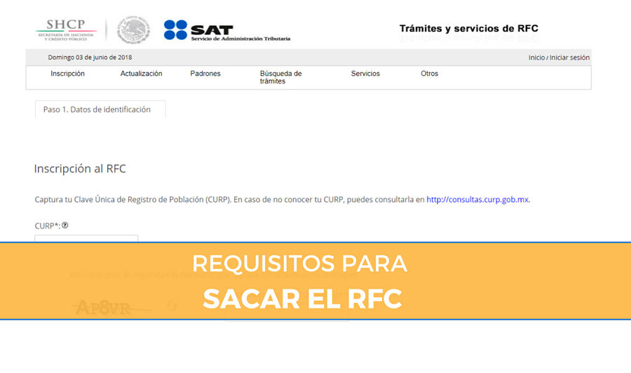 Requisitos para tramitar el RFC