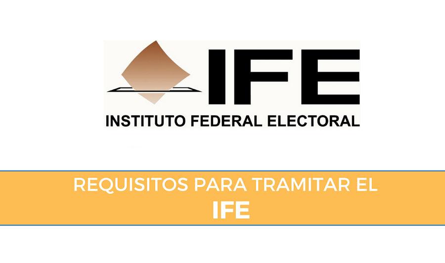 requisitos ife