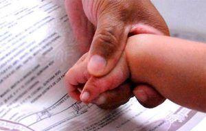 Registro civil para menores