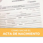 requisitos acta de nacimiento