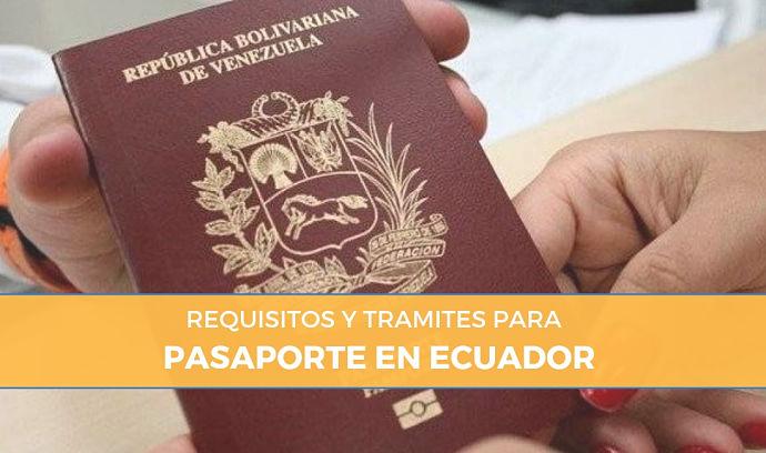 requisitos pasaporte en Ecuador