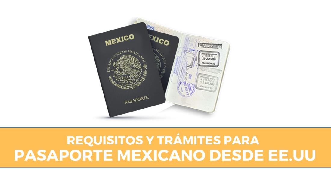 pasaporte mexicano desde EEUU