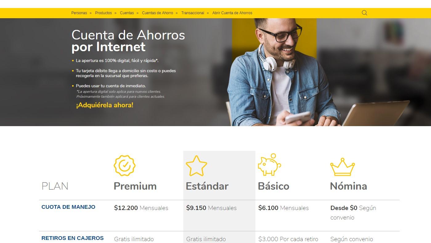 abrir cuenta de ahorros por internet