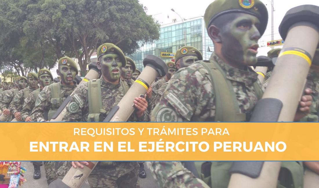 requisitos para entrar en el ejército peruano