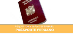 Trámites y requisitos para el pasaporte peruano