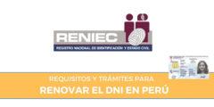 Requisitos y trámite para renovar el DNI en Perú