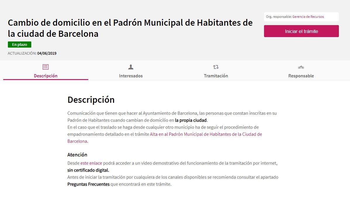 formulario empadronamiento barcelona