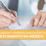 requisitos para hacer testamento en méxico