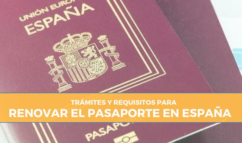 renovación del pasaporte español